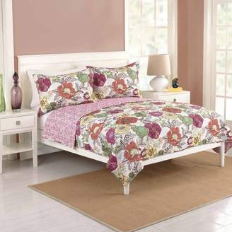 Better Homes & Gardens Better Homes and Gardens Passion Flower Bedding Quilt, King, Multicolor