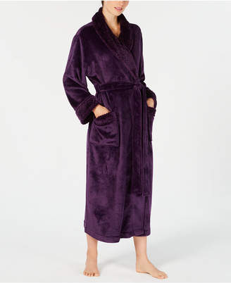 Charter Club Petite Long Dimpled Wrap Robe