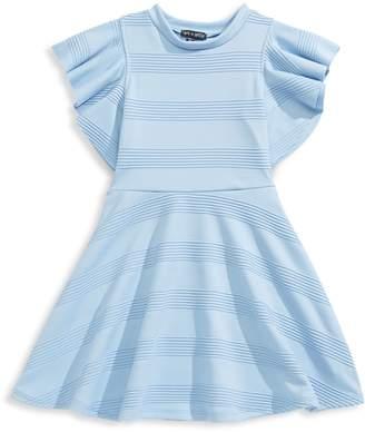 Ava & Yelly Girl's Girl's Striped Flutter-Sleeve Dress