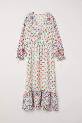 H&M Patterned Long Dress - Beige