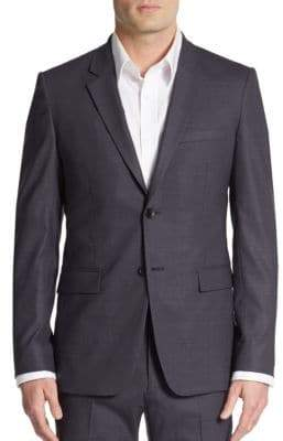 Theory Regular-Fit Tonal Plaid Wool-Blend Sportcoat