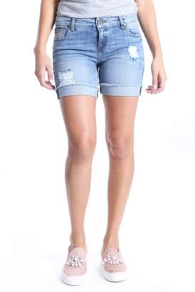 KUT from the Kloth Catherine Ripped Denim Boyfriend Shorts (Organized)