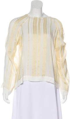 Zeus + Dione Chiffon Long Sleeve Blouse