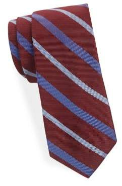Saks Fifth Avenue Wide Stripe Silk Tie