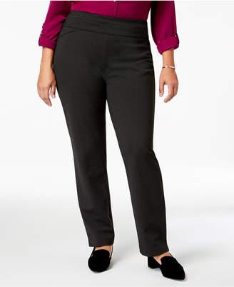 Charter Club Plus Size Cambridge Ponte Pull-On Pants