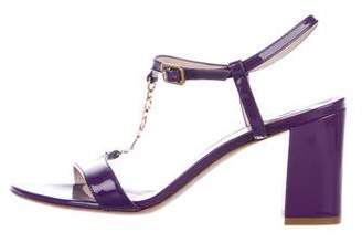 Salvatore Ferragamo Gancino Patent Leather Sandals