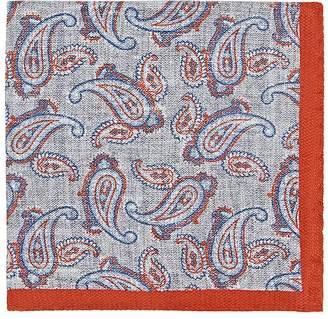 Fairfax Men's Reversible Silk Pocket Square