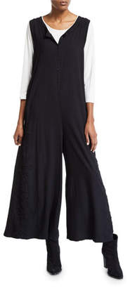 Johnny Was Hythe Sleeveless Wide-Leg Jumpsuit w/ Embroidery