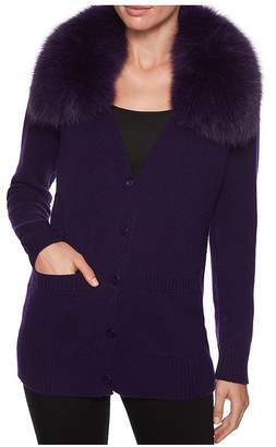 Magaschoni Fur Collar Cardigan