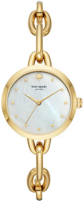 Kate Spade Women's Metro Gold-Tone Stainless Steel Chain Bracelet Watch 30mm