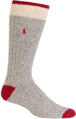 Polo Ralph Lauren Men's Ribbed Monkey Boot Casual Socks