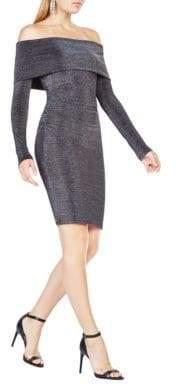 BCBGMAXAZRIA Evy Metallic Dress