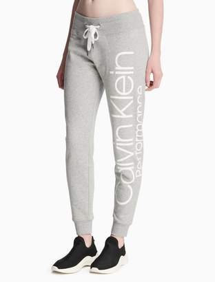 Calvin Klein drawstring logo fleece jogger sweatpants