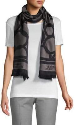 Versace Geometric-Print Scarf