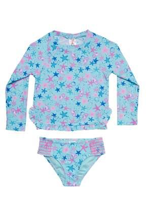 Hula Star Seahorse Bubbles Two-Piece Rashguard Swimsuit