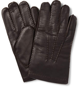 Dents Shaftesbury Touchscreen Cashmere-Lined Leather Gloves - Men - Dark brown