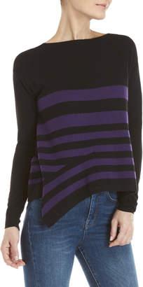 Karen Millen Asymmetrical Stripe Sweater
