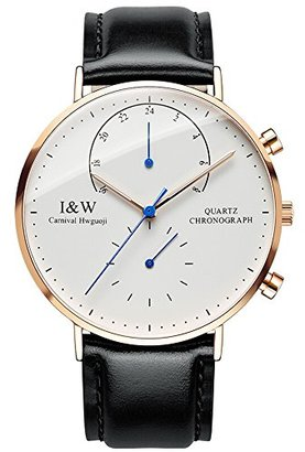 Carnival IW serier 8787-5G 防水30 m超の場合のビジネスの男性のクォーツ時計腕時計