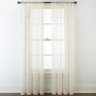 Liz Claiborne Lisette Macram Sheer Tab-Top Curtain Panel