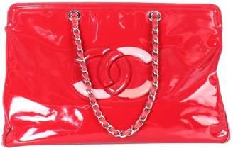 Chanel Red Patent Leather Handbag