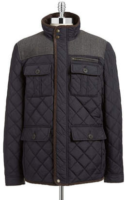 Vince Camuto Wool Plaid Quilted Jacket