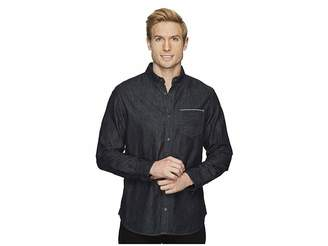 Calvin Klein Jeans Black Selvedge Denim Shirt Men's Clothing