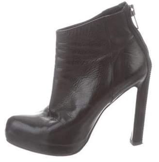 Haider Ackermann Leather PLatform Booties Black Leather PLatform Booties