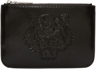 Kenzo Black Patent Tiger Pouch $115 thestylecure.com