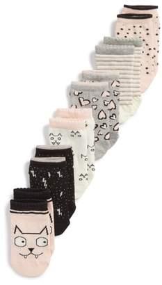 Tucker + Tate Kitty 6-Pack Assorted Low Cut Socks