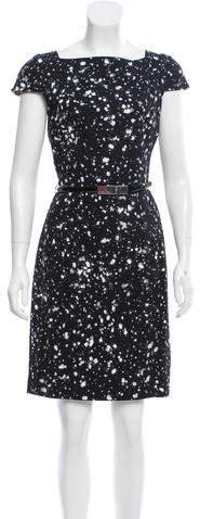 MICHAEL Michael Kors Michael Kors Splatter Print Sheath Dress