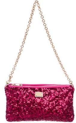 Dolce & Gabbana Sequin-Embellished Shoulder Bag