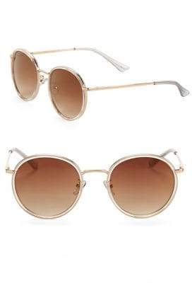 Sam Edelman 52MM Slim Round Sunglasses