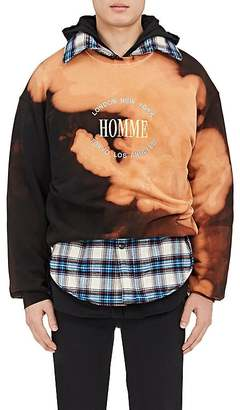 "Balenciaga Men's ""Homme"" Bleached Cotton Terry Sweatshirt $695 thestylecure.com"