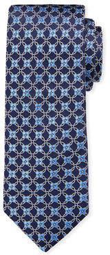 Ike Behar Men's Connected Floral Neat Silk Tie