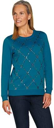 C. Wonder Brushed Back Sweatshirt with Embellishments