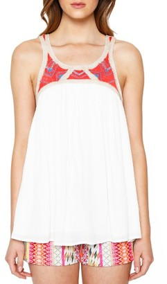 Women's Willow & Clay Embroidered Yoke Tank $79 thestylecure.com