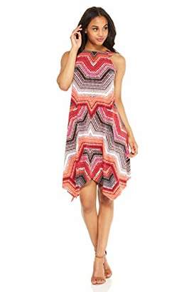 Maggy London Women's Global Puzzle Jersey Fit and Flare with Hanky Hemline