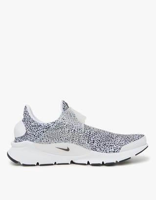 Nike Sock Dart QS Shoe in White/Black $120 thestylecure.com