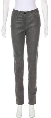 Alexander Wang Mid-Rise Leather Skinny Pants