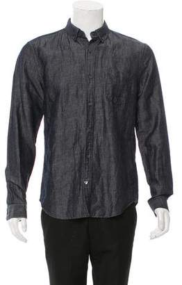 Vince Chambray Button-Up Shirt