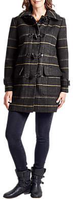 Four Seasons Check Duffle Coat, Grey