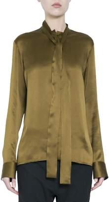Haider Ackermann Khaki Silk Shirt
