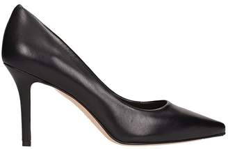 The Seller Black Leather Pumps
