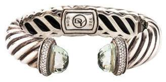David Yurman Prasiolite & Diamond Waverly Bracelet
