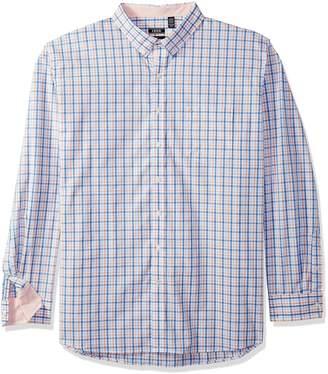 Izod Men's Premium Essential Tattersal Long Sleeve Shirt (Big Tall Slim)