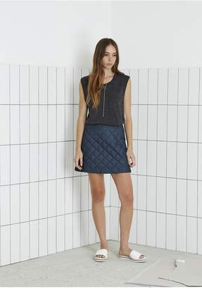 THE FIFTH BURNING COLOUR SKIRT dark chambray