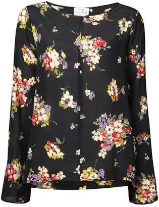 Forte Forte flared sleeve floral blouse