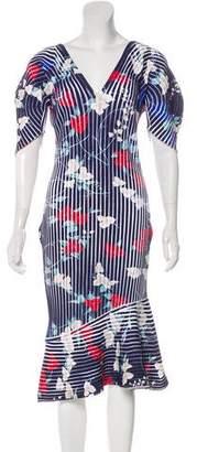 Salvatore Ferragamo Chenille Floral Dress w/ Tags