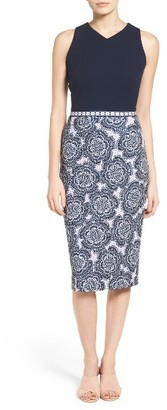 Women's Maggy London Scuba Midi Dress $128 thestylecure.com