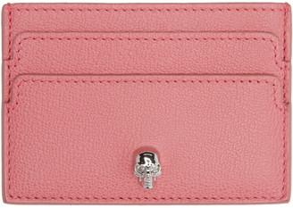 Alexander McQueen Pink Skull Card Holder $175 thestylecure.com